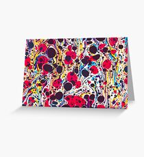 Psychedelic Vintage Marbled Paper Pepe Psyche Greeting Card