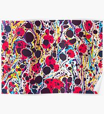 Psychedelic Vintage Marbled Paper Pepe Psyche Poster