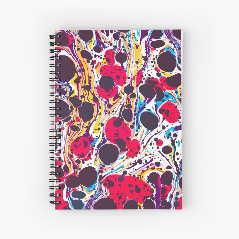 Psychedelic Vintage Marbled Paper Pepe Psyche Spiral Notebook