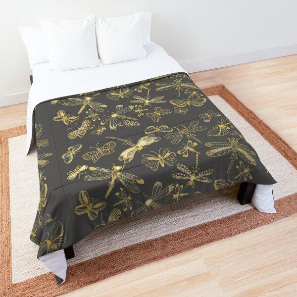 Dragonfly-Butterfly Illustration, Fine Art Comforter
