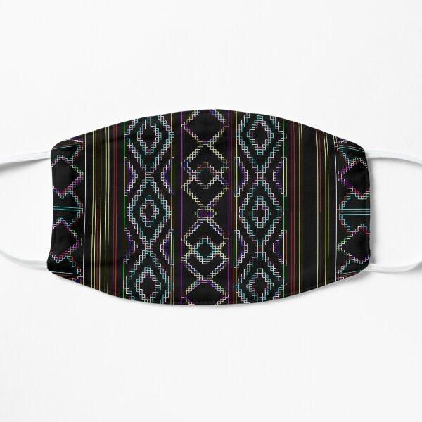 Arabesque Neon Lines Art Flat Mask