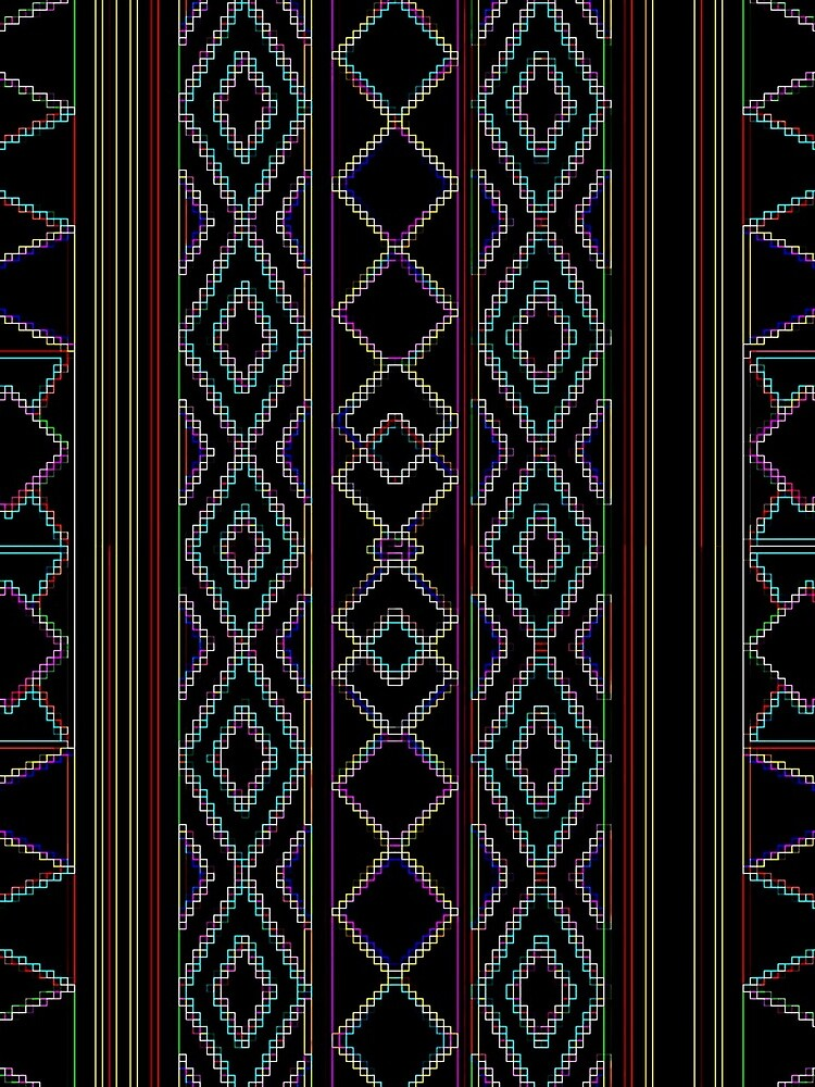 Arabesque Neon Lines Art by vkdezine
