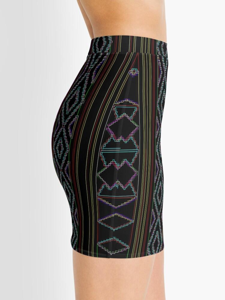 Alternate view of Arabesque Neon Lines Art Mini Skirt