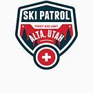SKI ALTA UTAH Skiing Ski Patrol Mountain Art by MyHandmadeSigns