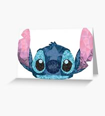 Stitch Geometric (Lilo and Stitch) Greeting Card