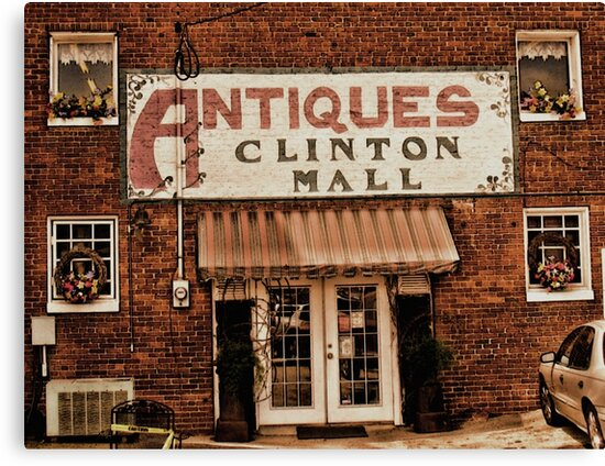 """Antiques, Clinton Mall, #1""... prints and products by © Bob Hall"