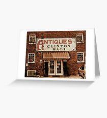 """""""Antiques, Clinton Mall, #1""""... prints and products Greeting Card"""