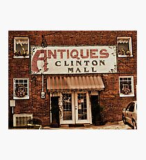 """Antiques, Clinton Mall, #1""... prints and products Photographic Print"