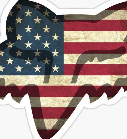 Fox Racing American Flag Sticker