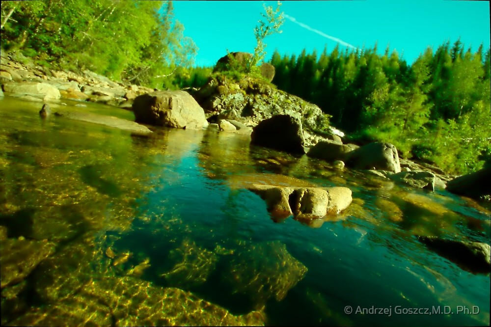 One day at paradise . Namsen River . Trondelag . Norway . Doctor Faustus. by © Andrzej Goszcz,M.D. Ph.D