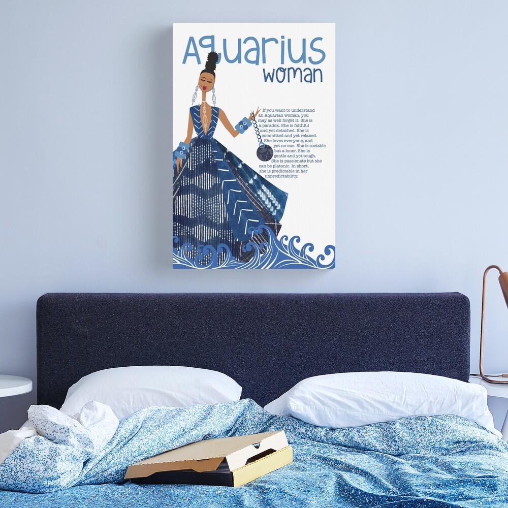 Aquarius Woman Canvas Print