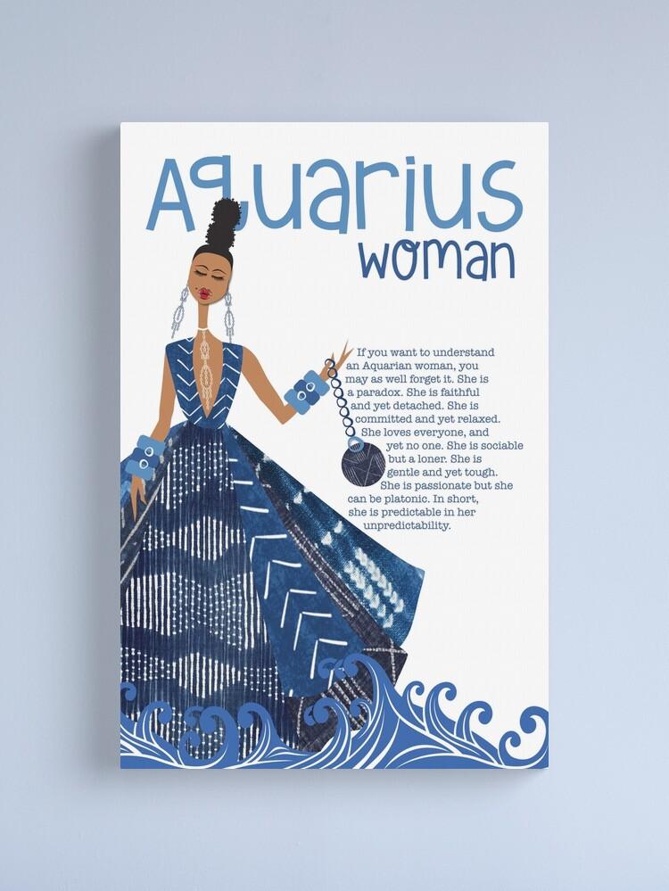 Alternate view of Aquarius Woman Canvas Print