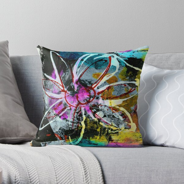 Floral Hysteria Throw Pillow