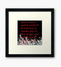 Witty Quote Framed Print