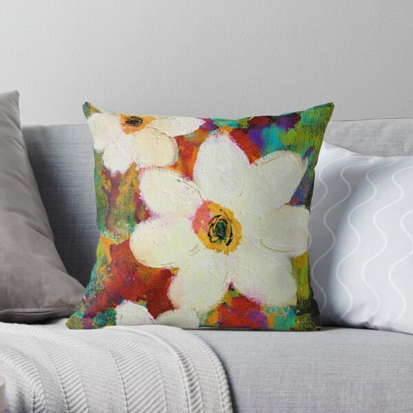 WINTER FLORAL Throw Pillow