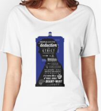 Wholock - A Study in Deduction Women's Relaxed Fit T-Shirt
