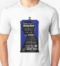 Wholock - A Study in Deduction Unisex T-Shirt