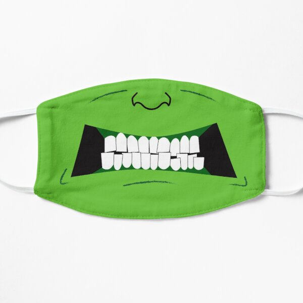 Green With Anger Flat Mask