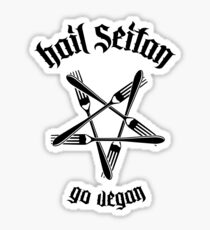 Hail Seitan - Go vegan No.1.1 (black)	 Sticker