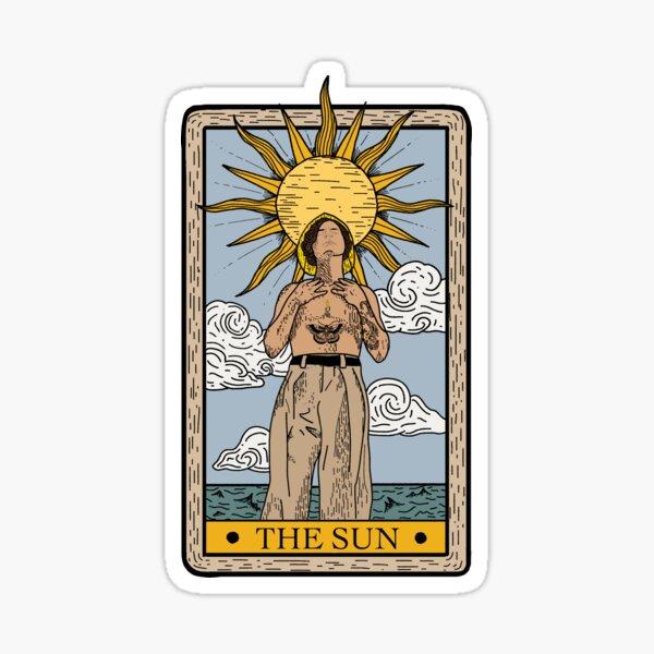Harry Golden Tarot Card Sticker