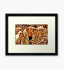 """""""The 8th Annual Clinch River Spring Antique Fair """"... prints and products Framed Print"""