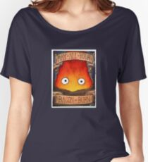 Howl's Moving Castle Illustration - CALCIFER (original)  Women's Relaxed Fit T-Shirt