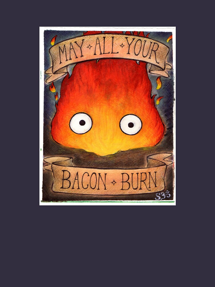 Howl's Moving Castle Illustration - CALCIFER (original)  by sianbrierley