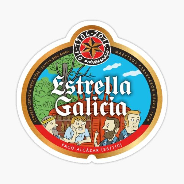 estrella galicia cerveza merch Pegatina