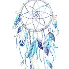 Dreamcatcher Feathers in Blue by CobyLyn