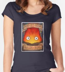 Studio Ghibli Illustration: CALCIFER #2 Women's Fitted Scoop T-Shirt