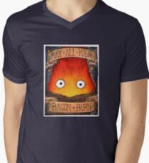 Studio Ghibli Illustration: CALCIFER #2 Men's V-Neck T-Shirt