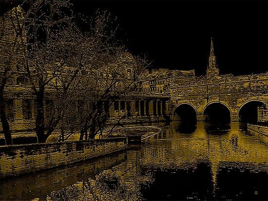 Pulteney Bridge In Bath by Vy Solomatenko