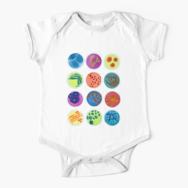 Petri Dishes  Short Sleeve Baby One-Piece