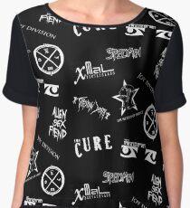 Goth Band Logos Women's Chiffon Top
