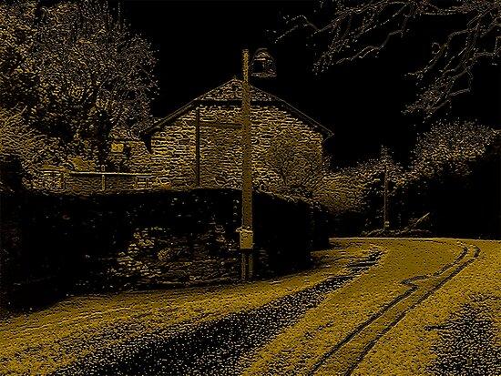 Lane Through Cockington Village by Vy Solomatenko