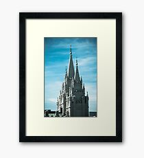 Salt Lake Spire Framed Print