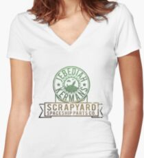 Kerbal Space Program - Jebs Scrapyard Women's Fitted V-Neck T-Shirt