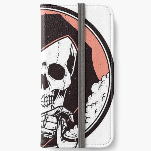 Skull Death and Blues  iPhone Wallet