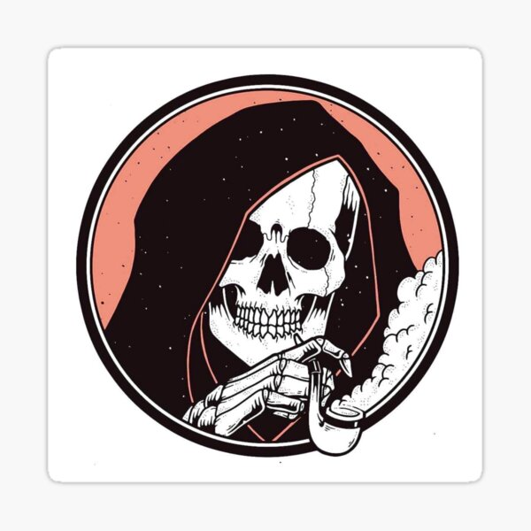 Skull Death and Blues  Sticker