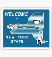 Welcome to New York State, Vintage Road Sign 70s, USA Sticker