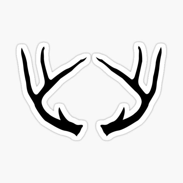 Deer Antlers Buck Black Sticker