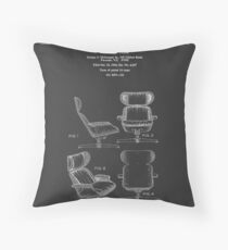 Iconic Mid Century Design Eames Lounge Chair Patent Drawings Throw Pillow