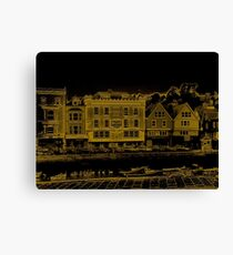 A Canal Street In Dartmouth Canvas Print