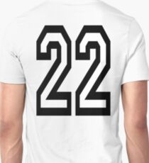 22, TEAM, SPORTS, NUMBER 22, TWENTY, TWO, Twenty Second, Competition,  T-Shirt