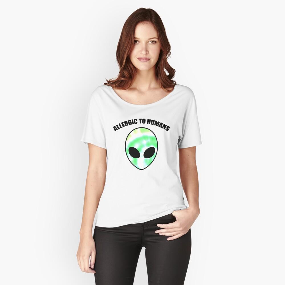 Allergiker für Menschen - Tie Dye Alien Print Loose Fit T-Shirt