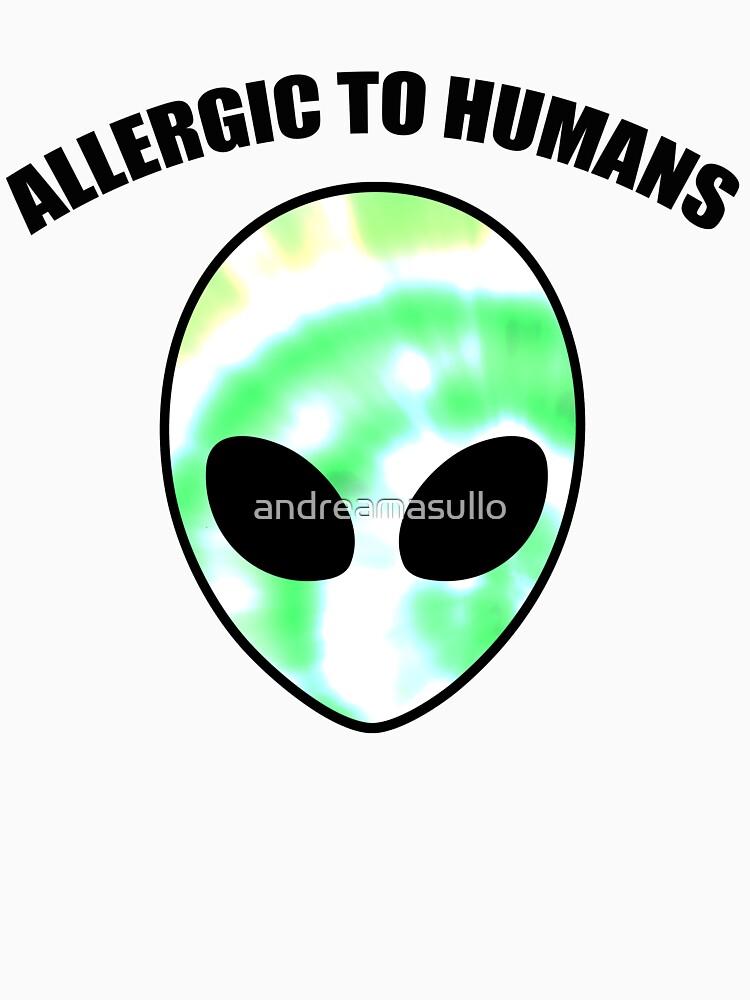 Allergiker für Menschen - Tie Dye Alien Print von andreamasullo