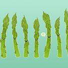 Asparagus say hi! by Elaine Chen