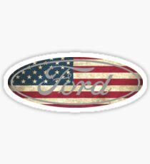 Ford American Flag Sticker
