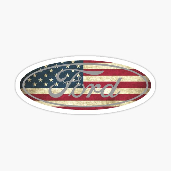 Ford amerikanische Flagge Sticker