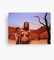 Himba Girls Of Namibia Canvas Print